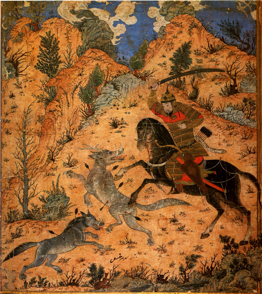 esfandyar fighting wolves