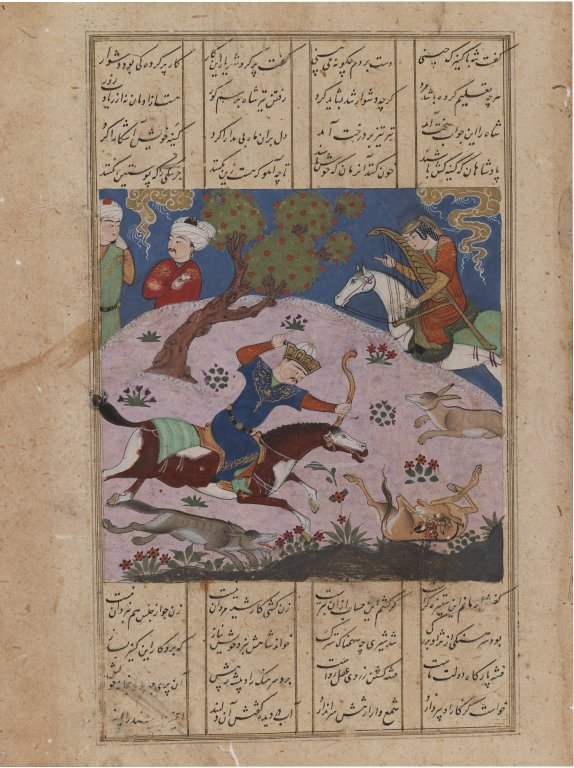 brooklyn_museum_-_bahram_gur_hunting_onagers_with_fitna_page_from_the_haft_paykar_from_a_manuscript_of_the_khamsa_of_nizami_-_2